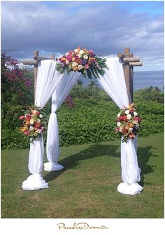 Image may contain: one or more people, wedding, flower, sky and outdoor