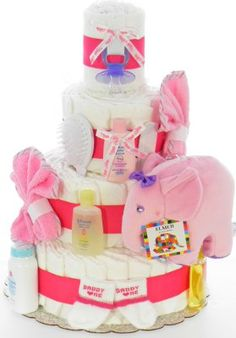 Rose Elephant Diaper Cake Elephant Diaper Cakes, Baby Shower Diapers, Children, Rose, Young Children, Boys, Pink, Kids, Roses