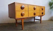 Vtg Retro 60s 70s Mid Century Danish Era Teak Sideboard Bank Chest of Drawers