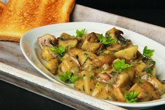 The kitchen is always open ...: mushrooms with bacon and marjoram (Slovak)