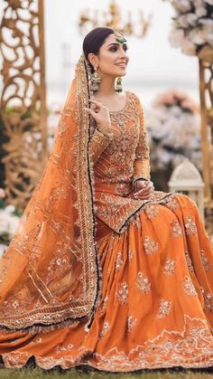 Latest Bridal Dresses, Asian Bridal Dresses, Desi Wedding Dresses, Asian Wedding Dress, Bridal Outfits, Shadi Dresses, Indian Gowns Dresses, Indian Fashion Dresses, Indian Designer Outfits