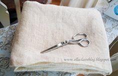 cómo lavar y cortar la arpillera