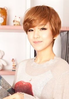 Cute Short Haircut with Side Swept Bangs - New Trends in Short Asian Hairstyles