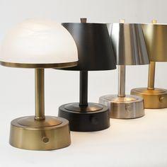 mini metal cordless lamp brushed nickel in 2019 cordless lamps rh pinterest com