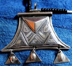 Tuareg Triangle  AMULET with Chat Chat' s by TuaregJewelry on Etsy, $107.00