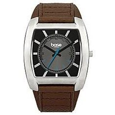 Base London Gents Analogue Square Brown Dial Brown Leather Strap Watch DQ90.01BL