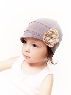 @Jocelyn Mast   Bluebell hat. Gray comfy toddler hat. Children accessories. Valentines gift. $25.00, via Etsy.