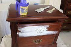 Maison Decor: How to Shabby Chic your dark furniture #darkshabbychicfurniture