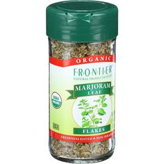 Frontier Herb Marjoram Leaf - Organic - Flakes - Cut and Sifted - .40 oz