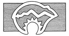 _original: Handout for 'Native American Bear Symbol' in GIF format 109 . Native American Baskets, Native American Symbols, Native American Design, Native Design, Bear Tattoo Meaning, Indian Symbols, Bear Tattoos, Animal Symbolism, Black And White Prints