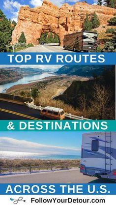 Planning an RV or camper van road trip? This full-time RVing couple who are living, traveling, and working from the road share their routes and top places to camp, things to do, and national parks to visit! They also have tons of RV life resources on thei Suv Camping, Camping Diy, Retro Camping, Camping Places, Camping Checklist, Camping Cabins, Camping Essentials, Camping Tricks, Camping Kitchen