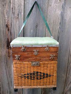 Fishing Stool Creel Tackle Box