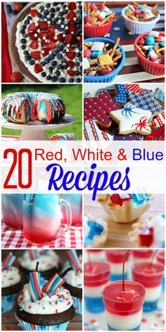These 20 Red White & Blue Patriotic Recipes are sure to be a hit at your Memorial Day, 4th of July or Labor Day festivities!