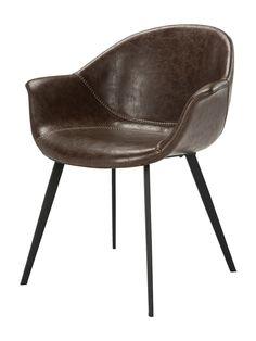 Safavieh Dublin Mid-Century Modern Leather Dining Tub Chair