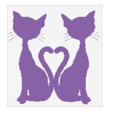 Crochet Cat throw blanket graphghan with written pattern-Tunisian crochet pattern by crochetperfume on Etsy