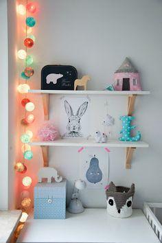 roomor! Kid's room, nursery, cotton ball lights, rabbit,