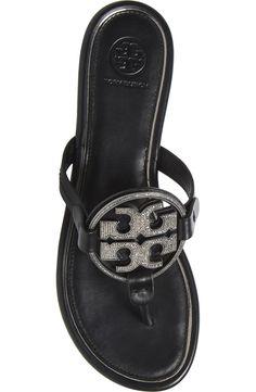 Tory Burch Miller Crystal Logo Flip Flop (Women) | Nordstrom Crystal Logo, Block Sandals, Tory Burch, Flip Flops, Nordstrom, Crystals, Shoes, Women, Fashion