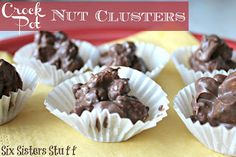 Crock Pot Nut Clusters - I remember my mom used to make them all the time when we were little and I was so excited to give these a try! I couldn't believe how simple they were! I will be making these again for the rest of the neighbors!