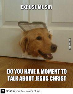 When Jesus closes a door, he leaves the dog door open.