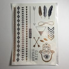 1 sheet of flash metallic tattoos •1 sheet of gold and silver flash tattoos  •new never used   •have two in stock, bundle to save!   •not Brandy  •PRICE IS FIRM Brandy Melville Accessories