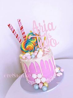 Girly Drip Cake Marshmallows