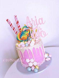 Girly Drip Cake