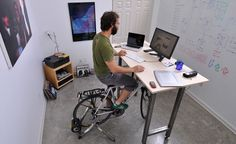 Genius! I want one of those. How about pedaling charged the laptop?