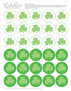 All About the Packaging: Shamrock Toppers | Celebrate the Big & Small