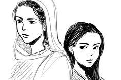 Sarai and Dove drawn by Minuiko