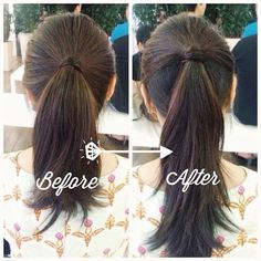 Before and After: Achieving a Longer Ponytail