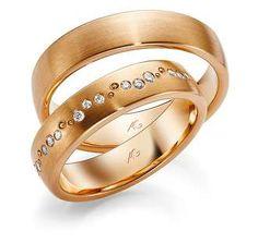 Rings in 18 Karat Rose Gold set with diamonds
