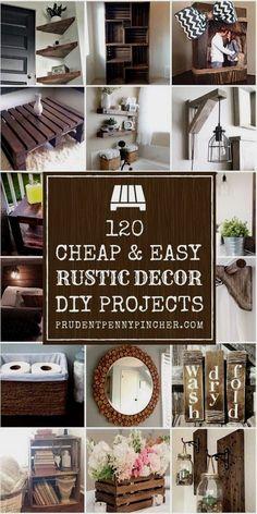 Diy Home Decor For Apartments, Diy Crafts For Home Decor, Easy Crafts, Crafts Cheap, Diy Simple, Easy Diy, Diy Rustic Decor, Farmhouse Decor, Modern Farmhouse