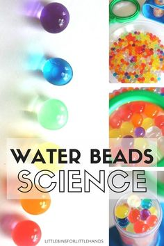 Water beads science activity and sensory play idea for kids. Explore a simple science activity and tactile sensory play with water beads. Great early learning activity for preschool and kindergarten science.
