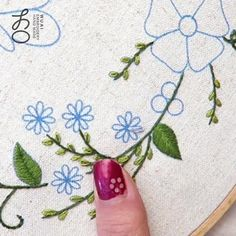 Beaded Flowers Patterns, Hand Embroidery Patterns Flowers, Hand Embroidery Videos, Embroidery Stitches Tutorial, Hand Embroidery Designs, Embroidery Kits, Ribbon Embroidery, Applique Designs, Fruit Pattern