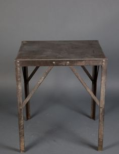 metal table... I like the idea if some metal accents