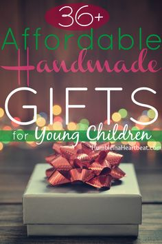 Isn't Christmas so much more magical with handmade gifts? Whether you're low on cash or just want to give your child a special gift, these ideas will help you put the magic back in the season! Pinned over 1,700 times!
