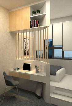 Awesome Small Apartment Bedroom Design Ideas To Try is part of Small bedroom designs - In their desire to save money, newlywed couples usually prefer to live first in small apartments especially if they still […] Small Apartment Bedrooms, Small Apartment Decorating, Small Room Bedroom, Home Bedroom, Bedroom Decor, Teen Bedroom, Master Bedroom, Small Bedroom Interior, Apartment Living