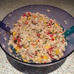 Reis mit Ananas und Thunfisch zum Abnehmen