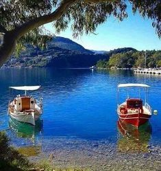 Boats in Ithaca island, Ionian sea, Greece Places To Travel, Places To See, Wonderful Places, Beautiful Places, Ithaca Greece, Sky Sunset, Greek Islands Vacation, Myconos, Greece Islands