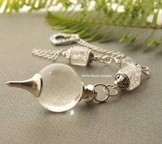 Clear Quartz Crystal Dowsing Pendulum  Joy by whiteravendesignsau, $32.50