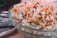 Popcorn with Sriracha Butter and Parmesan
