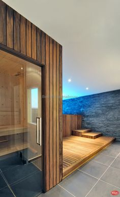 Wood Clad Appearance Basement Spa Wellness Cozy Stylish Interior Design - Home Improvement Inspiration Spa Interior Design, Interior Garden, Stylish Interior, Wellness Spa Hotel, Deco Spa, Sauna Design, Pebble Floor, Spa Shower, Space Interiors