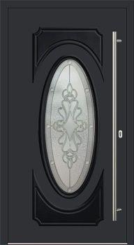 Kunststoff Haustür Modell 331 schwarz