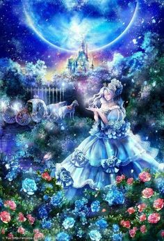 Fairy Tale Mood — arcadia-art: Cinderella :: No 464 / Chica Fantasy, Fantasy Girl, Fantasy Princess, Cinderella Art, Beautiful Fantasy Art, Anime Princess, Cross Paintings, Disney Marvel, Anime Angel