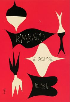 A Season in Hell by Rimbaud, cover design by Alvin Lustig