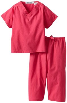 72602f34ff92d Scoots Baby Girls' Scrubs: Real baby scrubs just like the ones doctors and  nurses wear Easy to get on and off with snap closure at neckline Elastic  waist ...