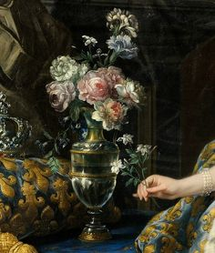 'Marie Leszczinska, Queen of France' (detail) 1747 by Charles-André van Loo | Flickr - Photo Sharing!