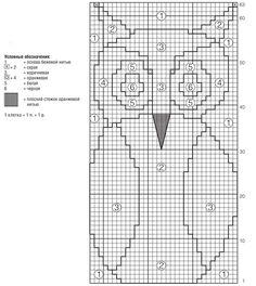 Схема и описание вязания джемпера с совой из журнала «Verena. Модное вязание» №5/2014