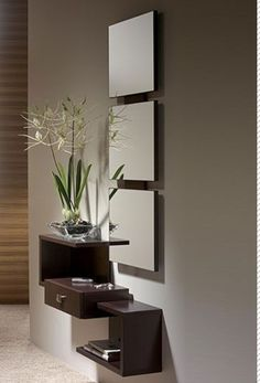 Staggered wall shelving