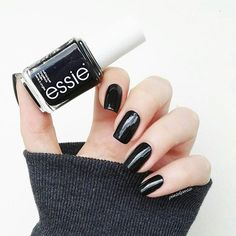 eternally cool. effortlessly chic. essie's original beguiling jet black lacquer 'licorice' laces up a deep, dark and delicious look for a rockstar attitude with sophisticated style.